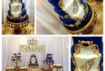 royal blue cakes