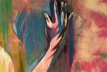 D un geste de la main / Peinture acrylique