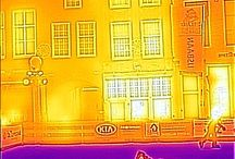 Thermal Imaging: Old style Dutch city. / WHERE GOES THE ENERGY?