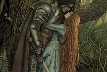 The Love Story of The Hound and his little bird, the Wolf Maiden