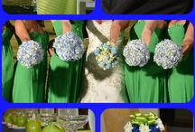 navy green cakes