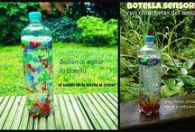 Cajas, botellas, bolsas sensoriales