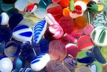 Glass sea μπουκάλια και κόσμημα