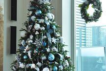 white & blue christmas