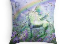Fantasy Art Designer Pillows