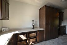 Custom laundry room cabinet