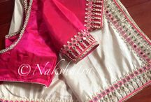 Heavy work saree blouses