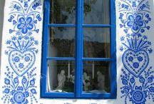 pintura pared azules