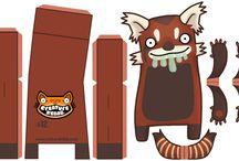 зверушки- коробки бумажные