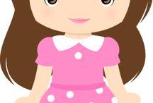 desenho bonecas