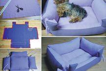 Hund og utstyr til hund / Dog, hund , utstyr til hund, hundeseng , hjemmelaget , dogbed , pers , kjæledyr,
