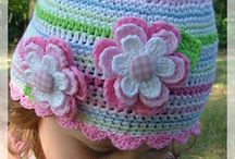 pattern for little girls beanie with flower