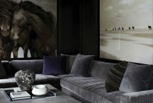 Lounge / Living room and lounge spaces tailored with a masculine touch...