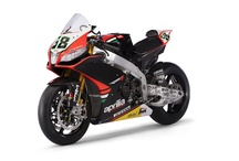 WSBK 2013 - RSV4 / Aprilia brings the diamond head of its range to the table, the innovative four cylinder RSV4, characterised by the exclusive architecture of its narrow V engine, an extraordinary project which was born and raised within the Aprilia Racing Department and simultaneously developed for the street version of the bike, available to all enthusiasts.