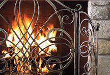 Fireplace screen etc