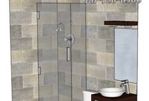 BATHROOM:  3x6 / Want a free design for YOUR BATHROOM?  Contact Marmotech, Inc on facebook.
