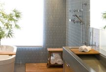 bathrooms with taek wood
