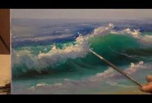 how to paint sea waves