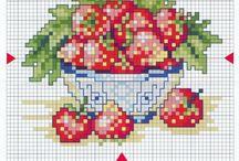 Kruissteek Vruchten
