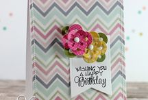 Cards: Easy to mass-produce / Create sets of cards perfect for gifts, or just to build up your stash. Use simple stamping techniques, easy diecutting and/or use of patterned papers to create lots of cards simply.