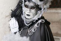 čiernobiele masky