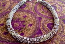 Beading Collane Bijoux Бусы Handmade Crochet Beads / Beading