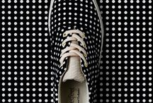 Carrie Van Hise for Bucketfeet / Dots canvas sneakers designed for Bucketfeet, a Chicago based company that creates art out of the classic canvas sneaker. www.bucketfeet.com