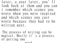 WRITING STUFF TO INSPIRE