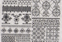 ~ embroidery - blackwork / blackwork, kasuti, sashiko, and such similar embroidery.
