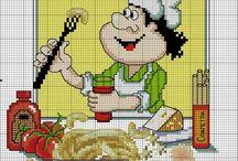výšivky kuchárik