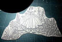 Handmade stamp / My hand-carved lino stamp