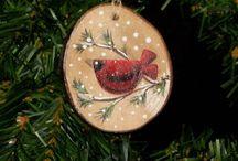 Christmas Wood Ornaments