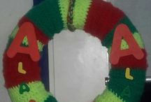 Carnavalskrans / Gehaakte krans