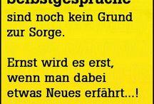 Wohl gesprochen ... / Deutsche Sprüche und Weisheiten