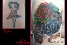 Cover Up Tattoos / Cover Up Tattoos by Dolly's Skin Art Tattoo in Kamloops BC Canada. A professional and relaxing experience for all your tattoo needs.  dollysskinart.com