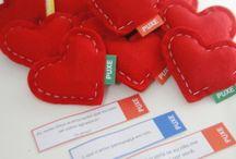 Namorados / Corações em feltro