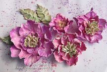 цветы для скрапа изготовление