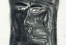 Tony Collins Charcoal Art