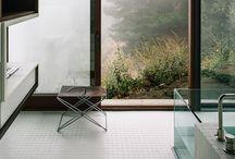 Glass bath tubs