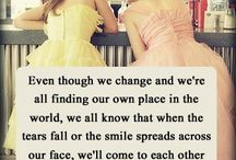 BFFs / Best Friends Forever, best friend quotes, true friendship and being supportive of each other