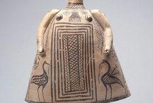 Greek art Terracotta figurines Archaic period / Greek archaic terracotta statuette - Archaic greek - Greek archaic pottery - Argive figurine - Greek terracotta protome - Kore - Demeter - Boeotian - Corinthian sphinx - Magna Graecia