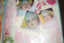 My daughter's scrapbooking pages