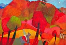 Peintures de Francis Berthault / Des couleurs, de la poésie et des rêves