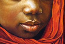paintings of children faces