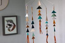 mobiles, wall hangings.
