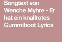 Songtext Knallrotes Gummiboot