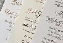 Calligraphy Letterpress Invitations / Hand Calligraphy for invitations
