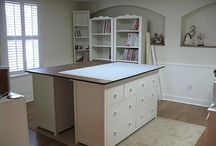 sewing room and storage ideas / by Rebecca Coleman
