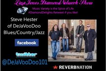 #LJDNShow 11-17-14 #Lina Jones DiamondNetwork Show / This board show pictures of my guest, the musicians music I played during the show and the link to the show.Re-recorded shows are not on the boards only live shows are displayed. Lina's guest and musicians receive Free exposure via social network postings during the week of their interview time thru 3 of the major social networks we are  growing join us.