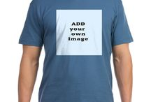 Add Your Image to Apparel / Add your own image to apparel at Cafepress, upload your image.  Mens, Womens, kids, babies, aprons Front and Back options. cafepress.com/addyourownimage / by The Tshirt Painter